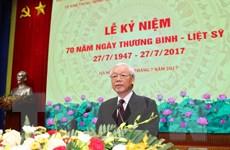 Lãnh đạo Đảng, Nhà nước dự lễ kỷ niệm 70 năm Ngày Thương binh-Liệt sỹ