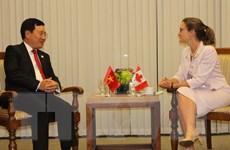 Canada cam kết hỗ trợ Việt Nam giải quyết thách thức về môi trường