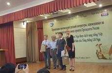 Tủ sách Dự án Xuất bản của Tổng thống Nga ra mắt ở Việt Nam