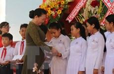 Chủ tịch Quốc hội dự Lễ khai giảng năm học mới tại Tiền Giang