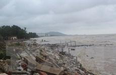 Khẩn trương xây dựng tuyến kè chắn sóng tại Khu du lịch Hải Tiến
