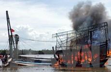 Cháy hai tàu cá công suất lớn, thiệt hại nhiều tỷ đồng