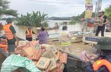 Hội Chữ thập Đỏ và Mặt trận Tổ quốc cứu trợ đồng bào vùng lũ