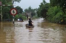 Thanh Hóa: Nước ngập mênh mông tại vùng rốn lũ Thạch Định