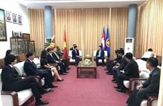 Đoàn Bộ Ngoại giao Việt Nam chúc mừng Quốc khánh Campuchia