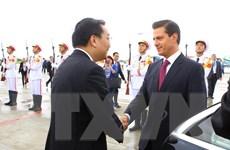Hình ảnh lãnh đạo cấp cao các nền kinh tế thành viên APEC tới Đà Nẵng