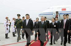 Tổng Bí thư, Chủ tịch Trung Quốc bắt đầu chuyến thăm Việt Nam