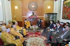 Chủ tịch MTTQ tiếp đoàn đại biểu Giáo hội Phật giáo Việt Nam