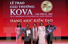 Giải thưởng KOVA thứ 15 vinh danh 2 công trình và nhiều tấm gương