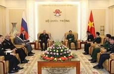 Thượng tướng Phan Văn Giang tiếp Tư lệnh Hải quân Liên bang Nga