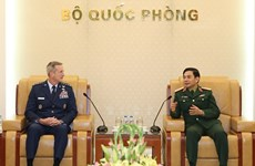 Thượng tướng Phan Văn Giang tiếp Tư lệnh Không quân TBD Hoa Kỳ