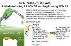 Chỉ kinh doanh xăng E5 RON 92 và xăng RON 95 từ 1/1/2018