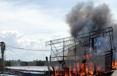 Quảng Nam: Tàu cá bất ngờ bốc cháy, thiệt hại gần 10 tỷ đồng