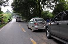 3 ôtô đâm liên hoàn gây ách tắc Quốc lộ 4D đoạn Sa Pa-Lào Cai