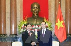 Chủ tịch nước Trần Đại Quang tiếp Chánh án Tòa án nhân dân tối cao Lào