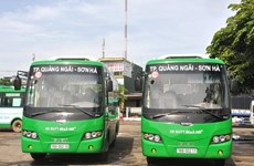 Quảng Ngãi đưa vào sử dụng xe buýt chạy trong nội thành
