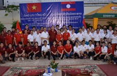 Thắm đượm nghĩa tình Việt-Lào trên đất bạn Campuchia