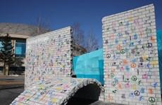 Khánh thành tượng đài Bức tường Đình chiến Olympic PyeongChang