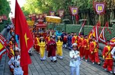 Dâng bánh tét Quốc tổ và dâng hương Đức lễ Thành hầu Nguyễn Hữu Cảnh