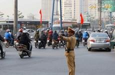 Ùn tắc giao thông tại Hà Nội đã bớt căng thẳng ngày cận Tết