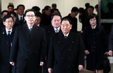 Tổng thống Hàn Quốc gặp đoàn đại biểu Triều Tiên tại PyeongChang