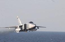 Máy bay chiến đấu Su-24MR của Nga bay trên Biển Nhật Bản