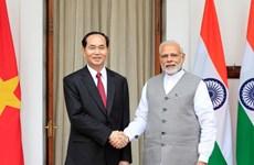 Chủ tịch nước Trần Đại Quang hội đàm với Thủ tướng Ấn Độ Narendra Modi