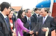 [Photo] Thủ tướng và đoàn cấp cao Việt Nam đến Siem Reap