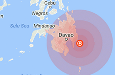 Động đất mạnh 6,2 độ Richer xảy ra ngoài khơi Philippines