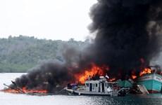 Indonesia bắt giữ hàng chục tàu đánh bắt cá hoạt động trái phép