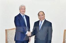 Thủ tướng Nguyễn Xuân Phúc tiếp Chủ tịch Tập đoàn JP. Morgan