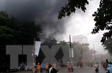 Cháy kèm tiếng nổ lớn phát ra tại khu vực bệnh viện Việt-Pháp
