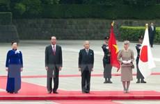 Truyền thông Nhật đưa tin trang trọng về chuyến thăm của Chủ tịch nước