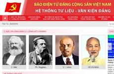 Báo điện tử Đảng Cộng sản ra mắt giao diện về tư liệu-văn kiện Đảng