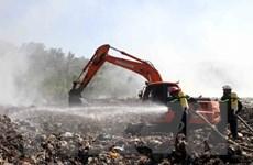 Nghệ An: Cháy bãi rác xã Ngọc Sơn, hàng chục người nhập viện
