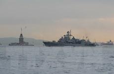 Tàu chiến Nga diễn tập bắn tên lửa ngoài khơi bờ biển Syria