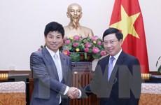 Phó Thủ tướng Phạm Bình Minh tiếp Quốc vụ khanh Bộ Ngoại giao Nhật Bản