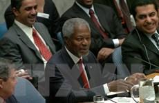 Trụ sở LHQ tại Geneva treo cờ rủ để tưởng nhớ ông Kofi Annan