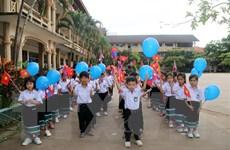 Thầy trò Trường song ngữ Lào-Việt Nguyễn Du bước vào năm học mới