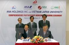 Đại học Việt Nhật hợp tác với hãng ANA trong lĩnh vực nghiên cứu