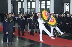 Các đoàn quốc tế chia buồn, viếng Chủ tịch nước Trần Đại Quang