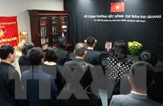 Lễ viếng, mở sổ tang Chủ tịch nước Trần Đại Quang tại các nước