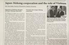 Giáo sư Nhật nói về vai trò của Việt Nam trong hợp tác Mekong-Nhật Bản