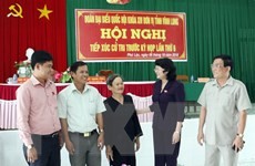 Quyền Chủ tịch nước tiếp xúc cử tri huyện Tam Bình, tỉnh Vĩnh Long