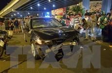 Một phụ nữ lái BMW gây tai nạn liên hoàn làm nhiều người thương vong