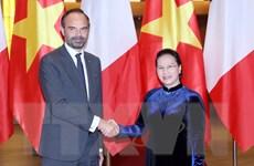 Chủ tịch Quốc hội Nguyễn Thị Kim Ngân tiếp Thủ tướng Cộng hòa Pháp