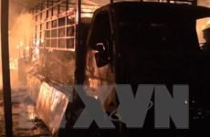 Hưng Yên cháy lớn thiêu rụi nhà kho của xưởng sản xuất nhựa