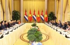 Tổng Bí thư, Chủ tịch nước hội đàm với Chủ tịch Hội đồng Nhà nước Cuba