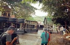 4 ôtô đâm liên hoàn trên Quốc lộ 18 đoạn qua Quảng Ninh