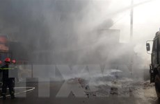 Đang có cháy lớn tại Khu công nghiệp Trà Nóc, Cần Thơ